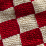 Red and white chequerboard blanket