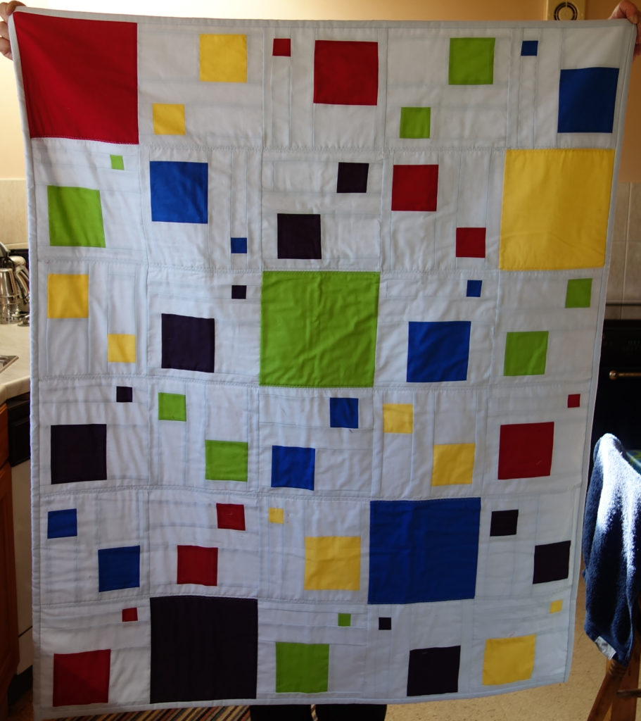 Modern square quilt