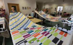 Quilting day in progress
