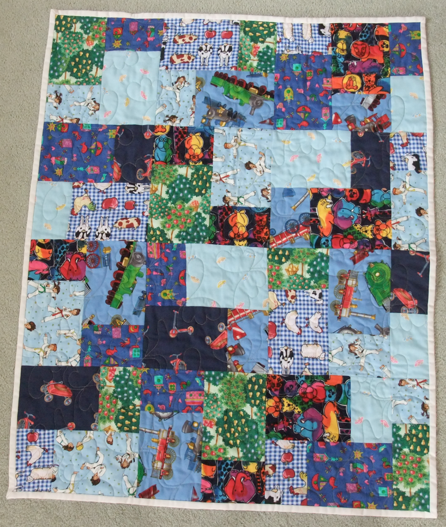 Double cut scramble quilt